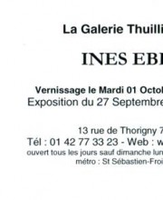 Next event at Gallery Thuillier - Paris, France